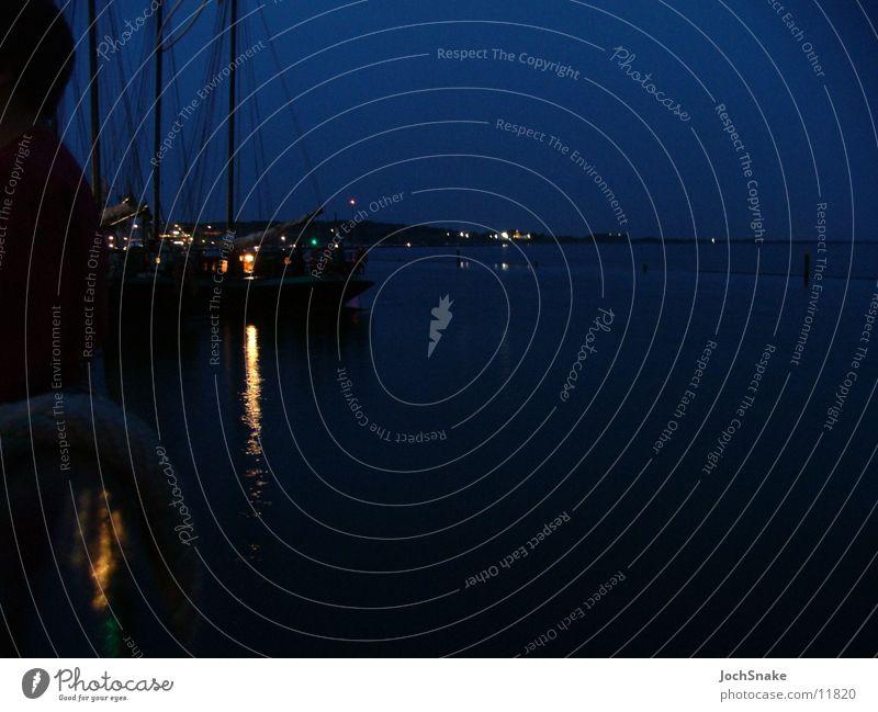 Water and sailing ship at night Ocean Sailing Sailing ship Night Watercraft Netherlands Sailing trip Europe