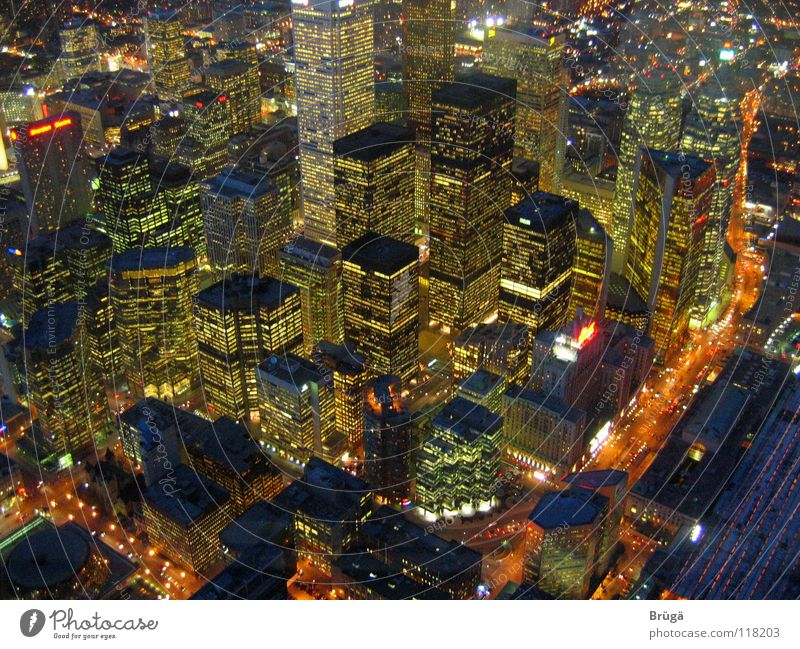 Toronto at night from the CN Tower Canada High-rise Night Urban canyon city at night Light