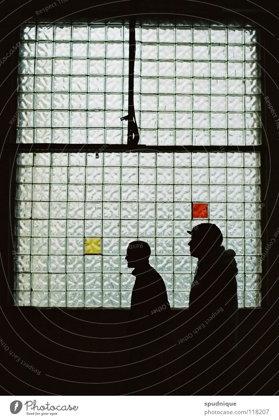 black red gold Light Window Silhouette Black Translucent Window pane Mysterious Calm Derelict Beautiful Profile Structures and shapes Idea