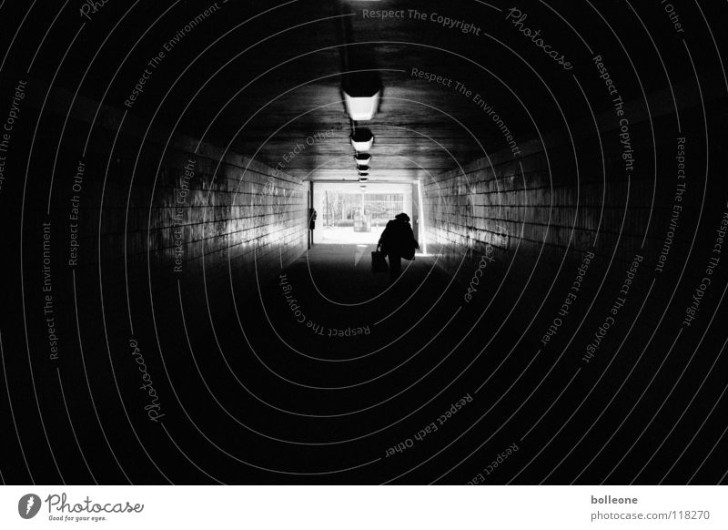 City Black Loneliness Dark Fear Dirty Planning Dangerous Threat Analog Creepy Tunnel Train station Panic Pull Underpass