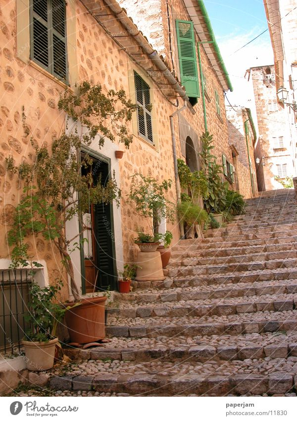 Old House (Residential Structure) Stairs Historic Spain Majorca