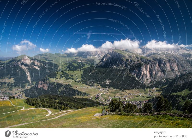 Sky Nature Vacation & Travel Summer Landscape Far-off places Mountain Lanes & trails Freedom Tourism Leisure and hobbies Hiking Idyll Trip