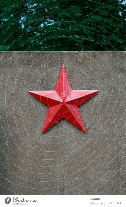 Red Wall (building) Metal Concrete Star (Symbol) Monument War Russia Landmark Iron Cemetery Weimar Soviet Union