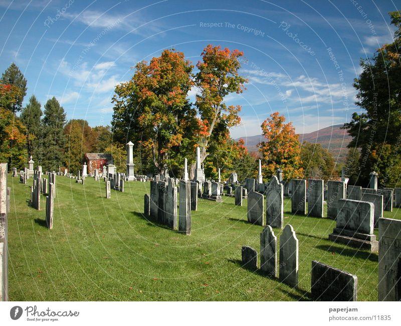 Old Autumn USA Cemetery Tombstone Tomb