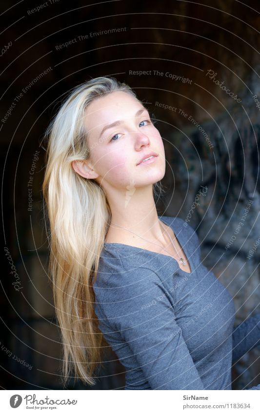 Human being Youth (Young adults) Beautiful Young woman 18 - 30 years Adults Wall (building) Natural Feminine Wall (barrier) Lifestyle Authentic Blonde Esthetic Simple Beautiful weather