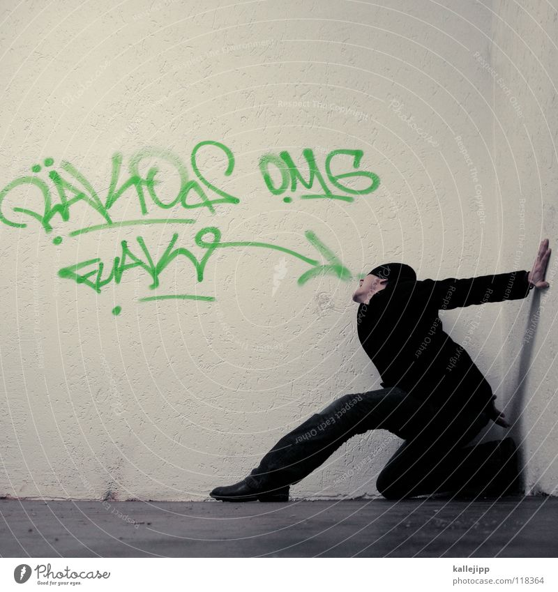 Human being Man Blue Hand White Red Joy Calm Nutrition Cold Graffiti Wall (building) To talk Emotions Wall (barrier) Funny