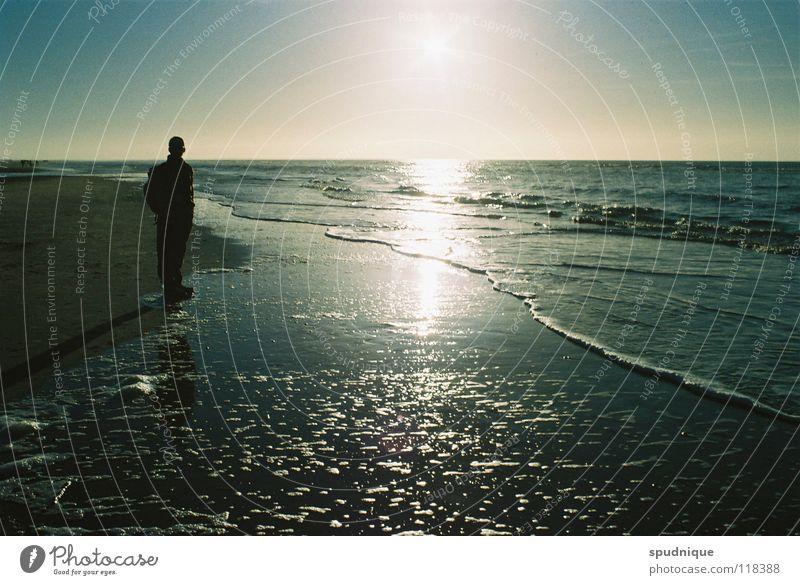 quiet here. Beach Back-light Tide Ocean Mirror Reflection Loneliness Calm Beautiful Coast Silhouette Sun Salt Ice