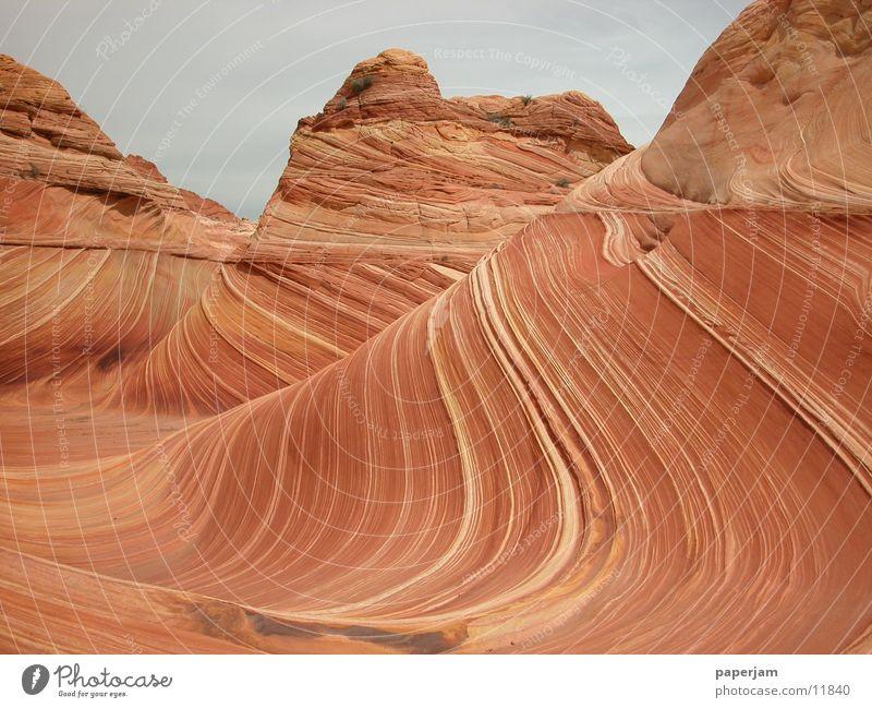 The Wave Erosion Rock Stone Landscape Nature Sandstone Esthetic Beautiful Impressive Attraction Tourist Attraction Exceptional Bizarre Undulation Undulating