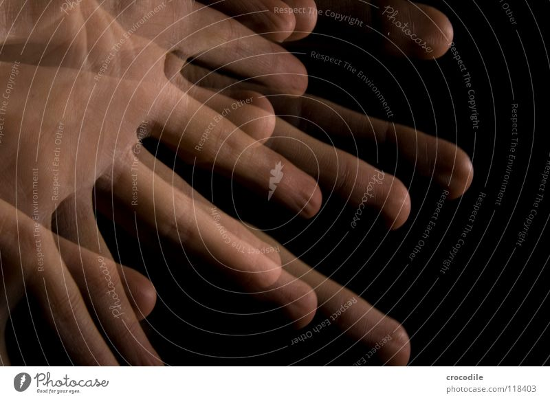 Hand Dark Movement Fingers Uniqueness Transparent Wave Spooky