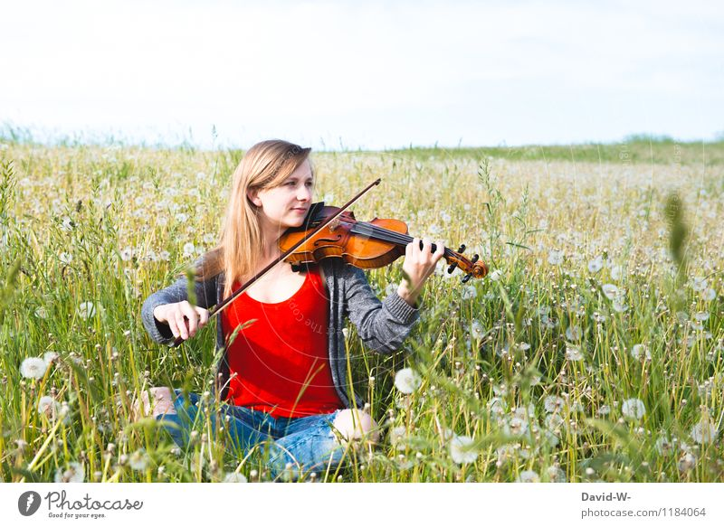 Harmony of sounds Elegant Joy Beautiful Harmonious Calm Leisure and hobbies Summer Education Study Human being Feminine Girl Young woman Youth (Young adults)