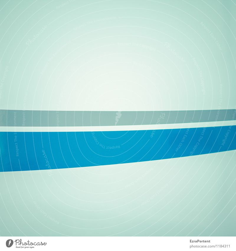 Blue Colour White Gray Line Art Bright Metal Design Illuminate Decoration Esthetic Stripe Illustration Graphic Geometry