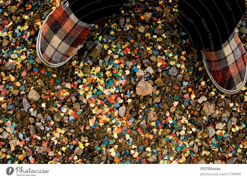 Party Mountain Lanes & trails Footwear Feasts & Celebrations Paper New Year's Eve Trash Carnival Footpath Gravel Checkered Confetti Slippers Felt