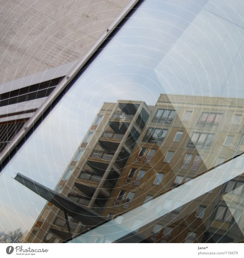 Sky City Cold Gray Line Metal Architecture Glass Concrete Living or residing Dresden Square Trashy Diagonal
