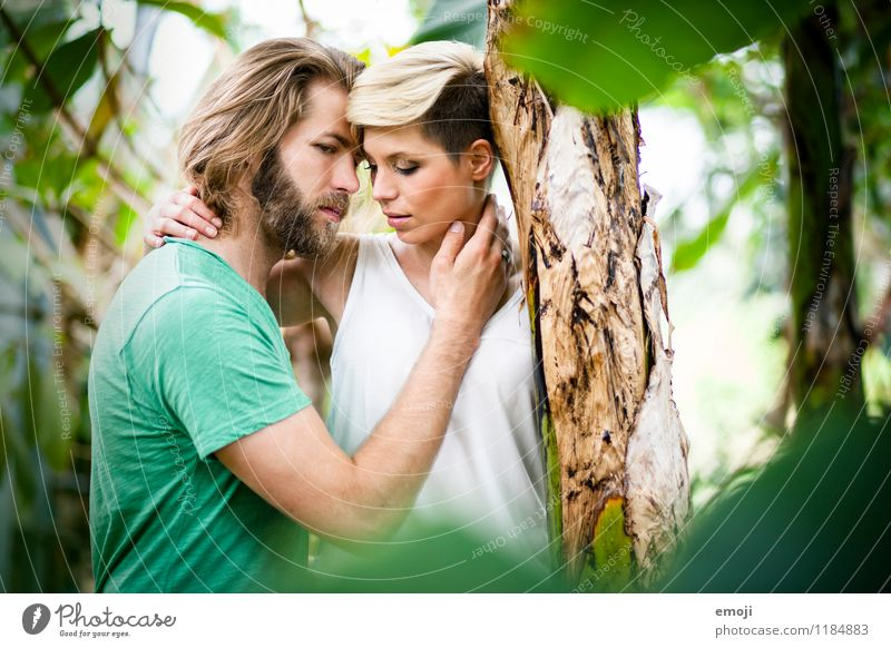 2 Masculine Feminine Young woman Youth (Young adults) Young man Couple Adults Human being 18 - 30 years Together Beautiful Natural Green Intimacy Love