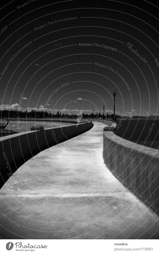 Víbora Sky Viper Retaining wall Concrete Dark Curve Manmade structures Frontier fortifications Argentina Industry Black & white photo cement coulds curved
