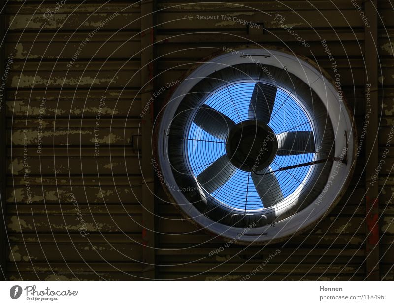 transparency Fan Ventilation Roof Corrugated sheet iron Flake off Brown Factory Industry Hollow Sky Colour Blue internal rotor axial fan Warehouse