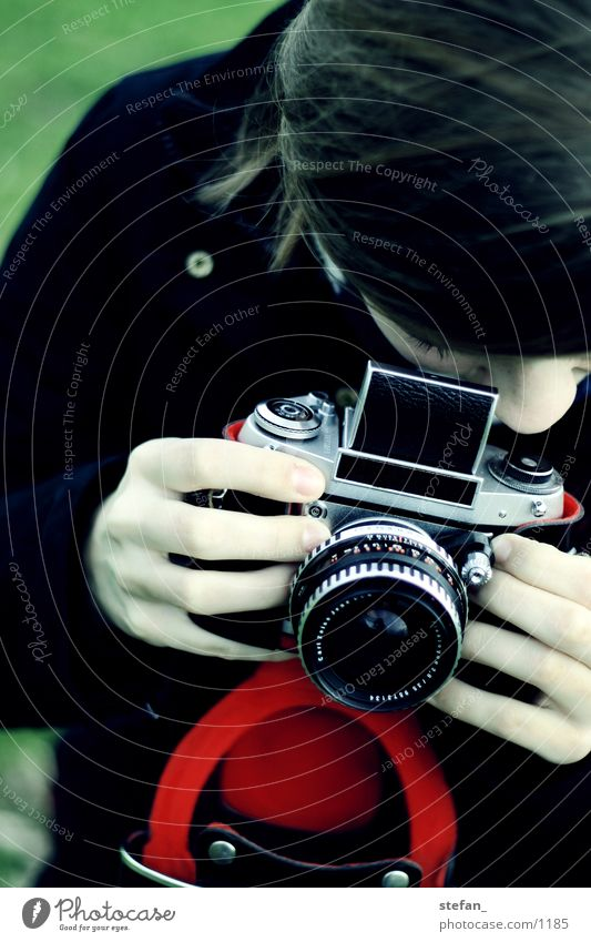 EXA Contrast Photography Woman Analog Red Green red casing Exa analogue
