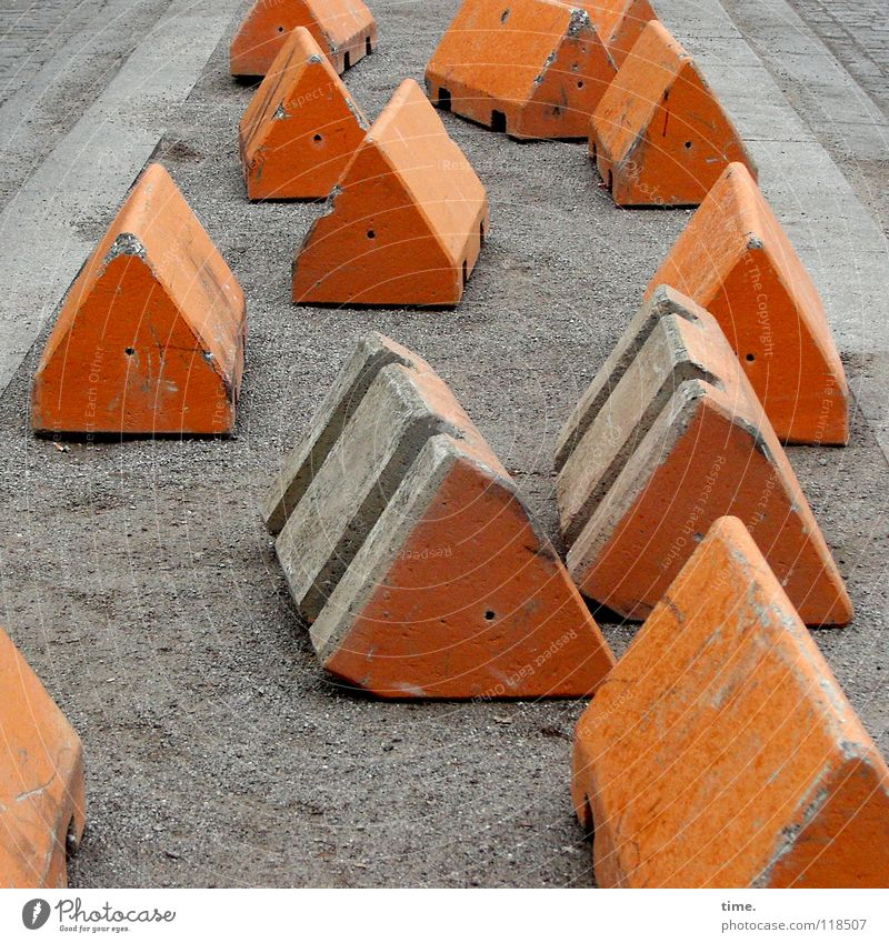 City Street Gray Sand Orange Transport Concrete Places Communicate Construction site Protection Safety Risk Attachment Traffic infrastructure Services