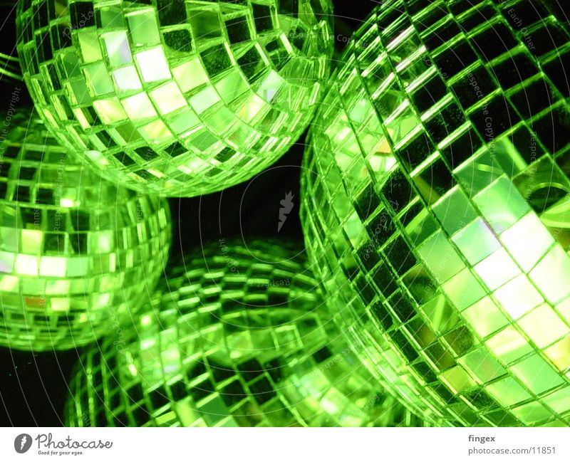 Green Party Disco Things Obscure Neon light
