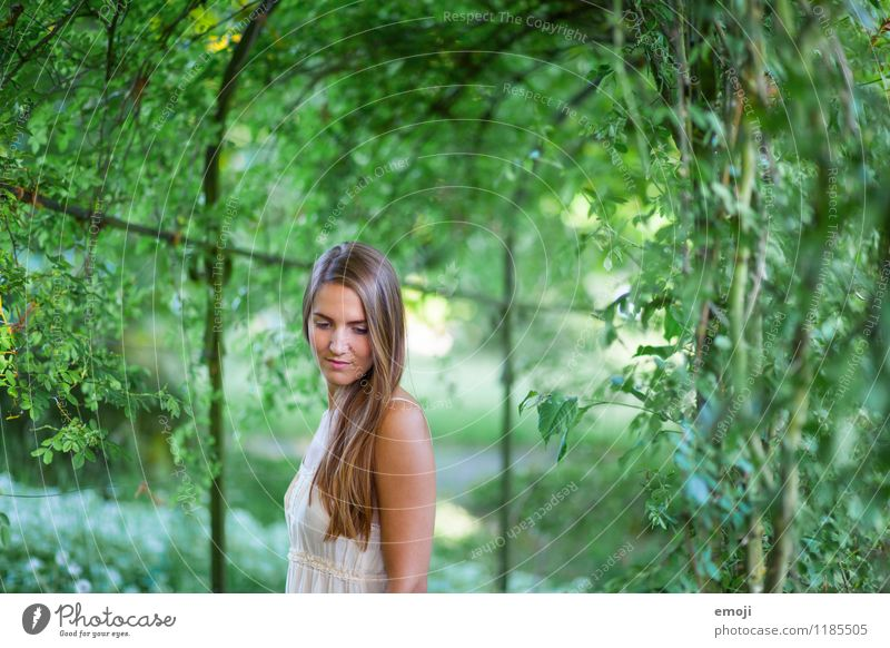 park Feminine Young woman Youth (Young adults) 1 Human being 18 - 30 years Adults Park Brunette Long-haired Beautiful Natural Green Romance Dreamily