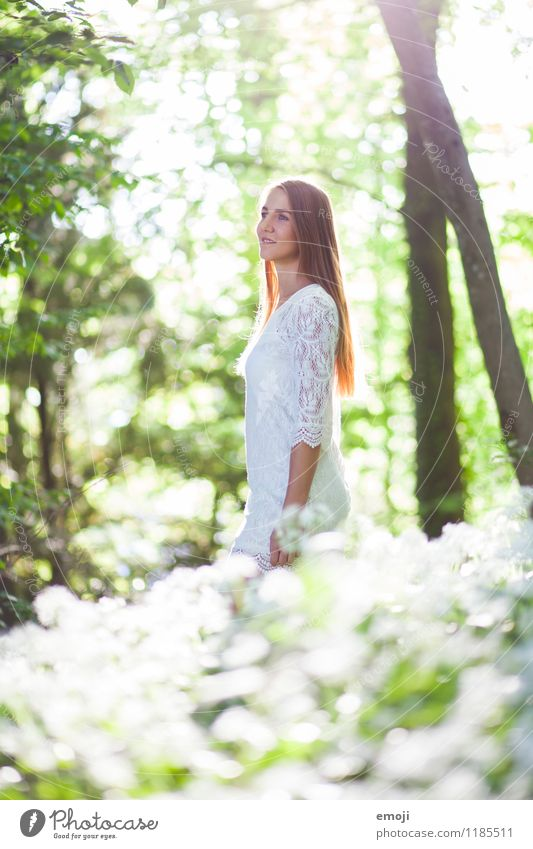 shine bright Feminine Young woman Youth (Young adults) 1 Human being 18 - 30 years Adults Environment Nature Landscape Spring Summer Beautiful weather Forest