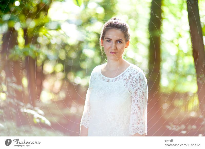 gradient Feminine Young woman Youth (Young adults) 1 Human being 18 - 30 years Adults Spring Summer Beautiful weather Natural Smiling Colour photo Exterior shot