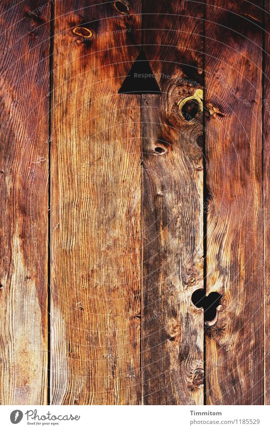 Old Dark Black Wood Brown Line Living or residing Door Esthetic Simple Farm Wooden board Toilet Triangle Relief Knothole