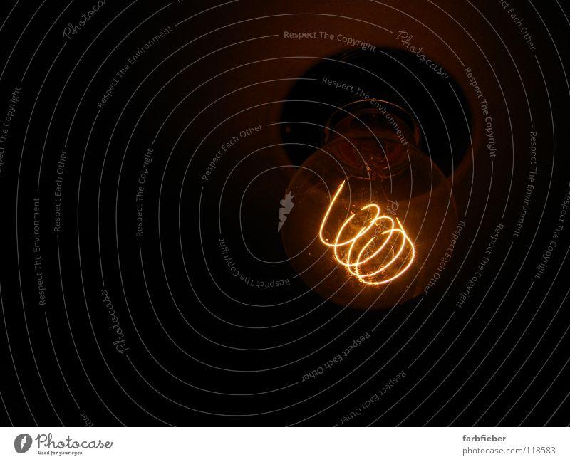 Lamp Dark Bright Brown Metal Glass Energy Energy industry Gloomy Hot Illuminate Creativity Idea Wire Electric bulb Thrifty