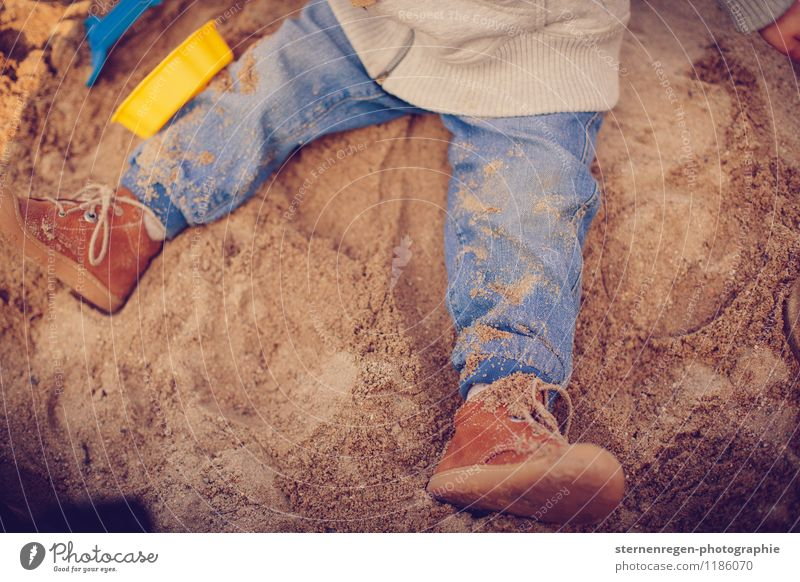 Child Playing Sand Dirty Infancy Footwear Baby Childhood memory Jeans Toddler Kindergarten Parenting Dust Sandpit