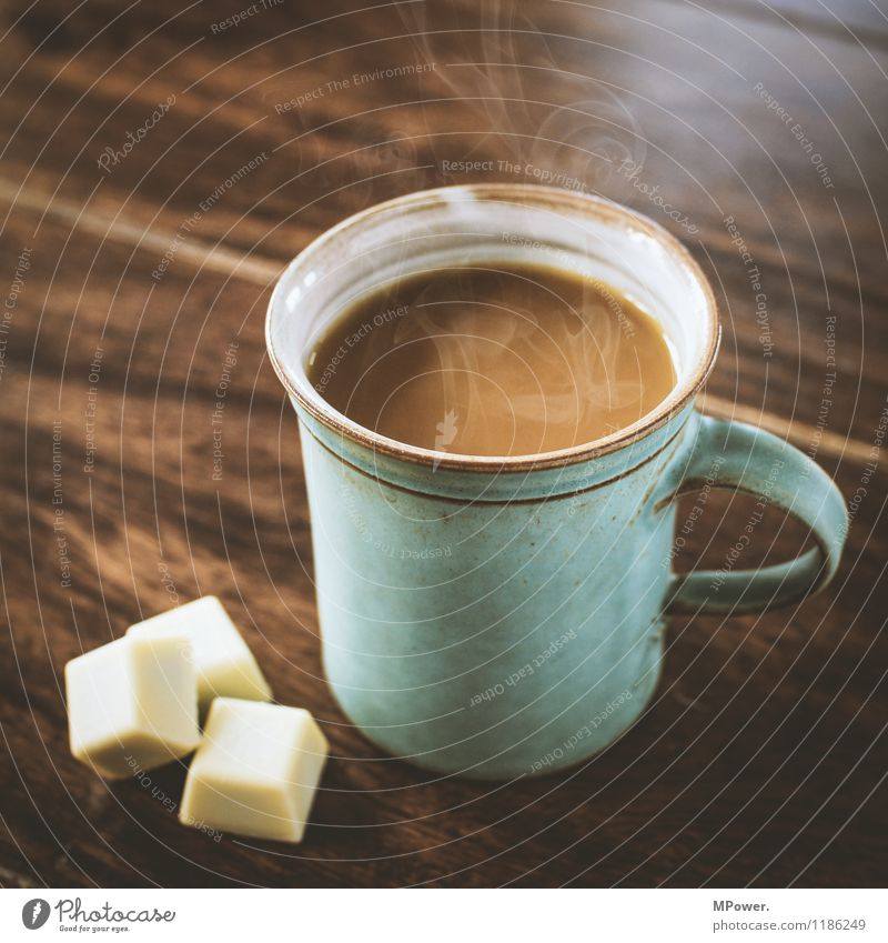 Eating Happy Brown Table Nutrition Beverage Coffee Drinking Hot Breakfast Cup Chocolate Wooden table Sugar Steam Coffee cup