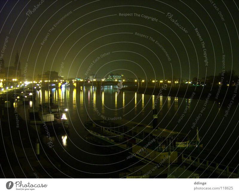 Watercraft Bridge Dresden Elbe Semper Opera