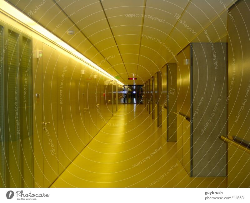 corridor Hallway Hospital Yellow Architecture Corridor