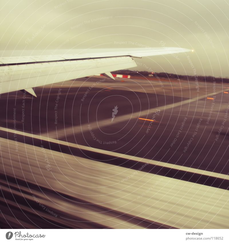 on the day of arrival at the place of arrival... Airport Airplane landing Landing Runway Wing Motion blur Arrival John F. Kennedy Airport View from the airplane
