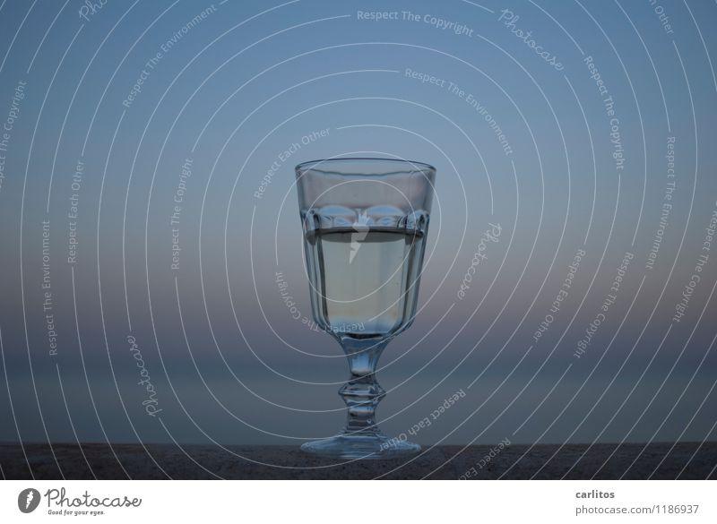 nightcap Glass Wine Beverage To enjoy Vantage point Far-off places Horizon Ocean Shallow depth of field Vacation & Travel Mediterranean Majorca Retirement