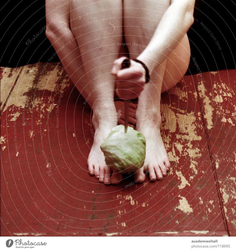 Hand Green Black Nutrition Colour Naked Feminine Emotions Feet Legs Skin Eating Food Floor covering Analog