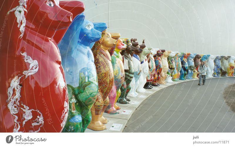 Berlin bears Exhibition Trade fair Bear Circle Americas Multicoloured Arms up