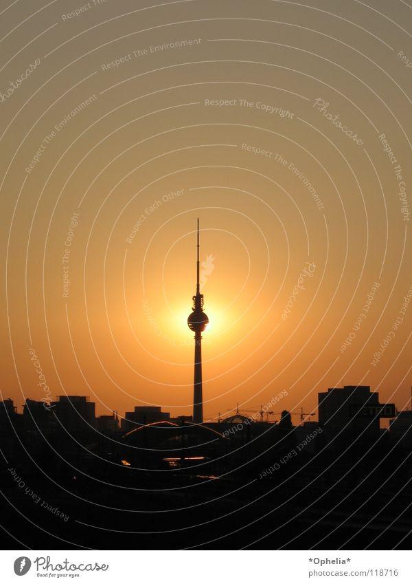 Berlin...Berlin... Town Landmark Monument sun black Orange dream Television
