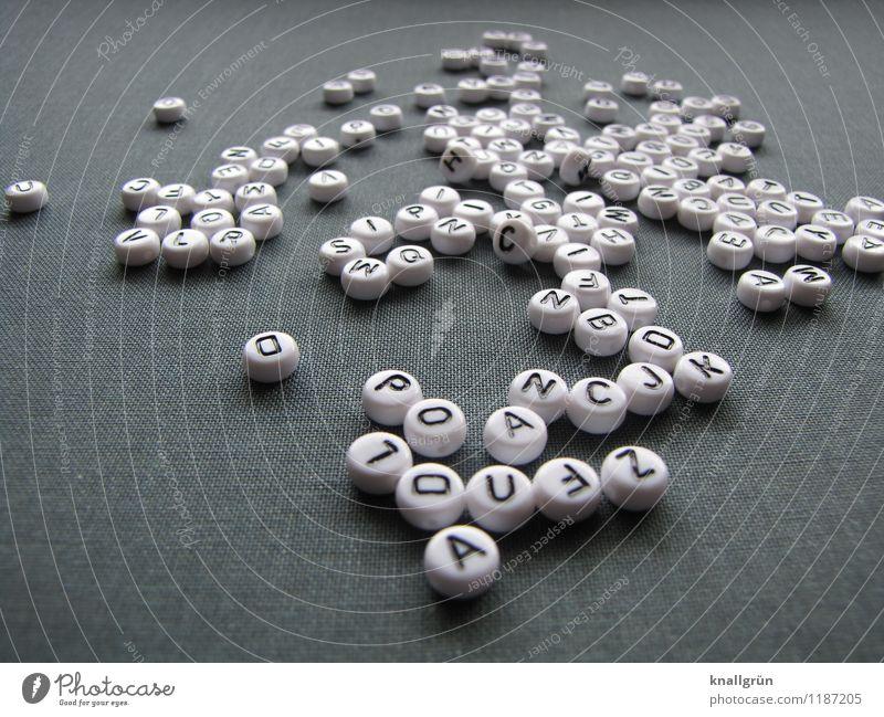White Black Gray Characters Communicate Round Word Language Latin alphabet