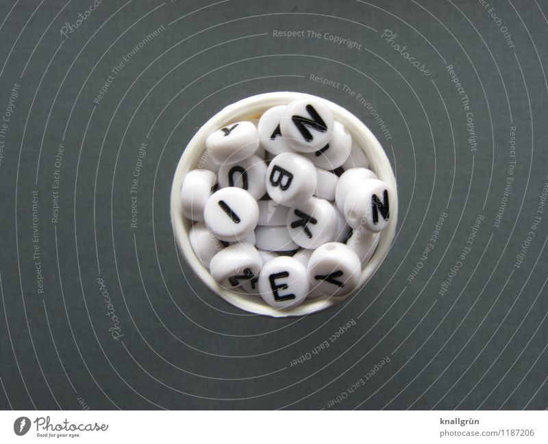 daily dosage Characters Communicate Round Gray Black White Emotions Health care tablet tube Colour photo Studio shot Deserted Copy Space left Copy Space right