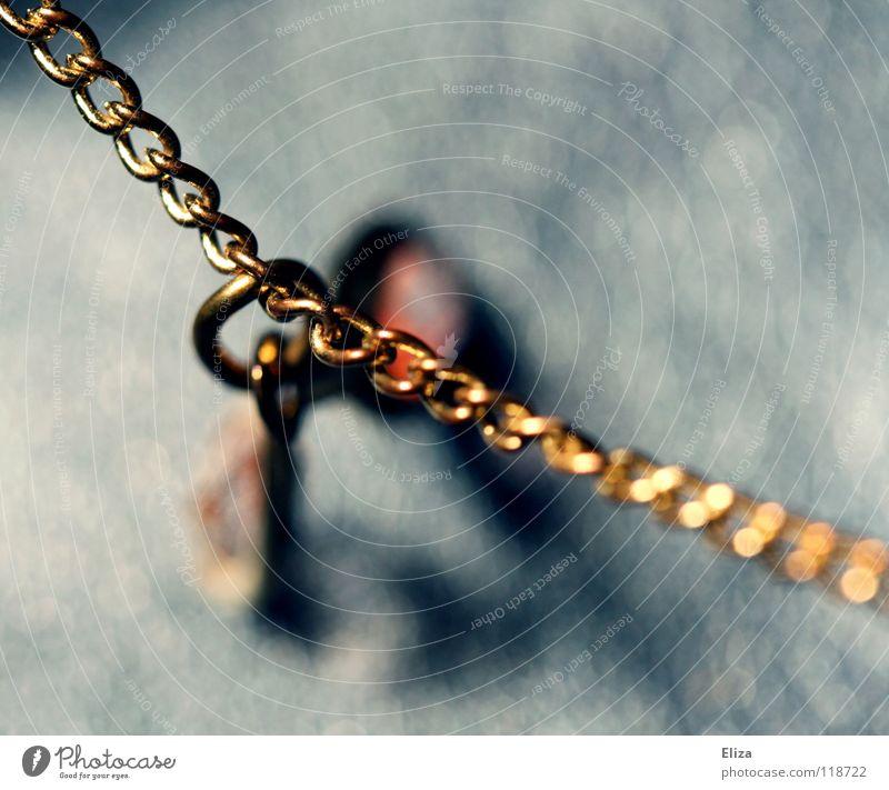 Beautiful Old Blue Lamp Stone Glittering Gold Elegant Bridge Luxury Jewellery Chain Noble Chic Glamor