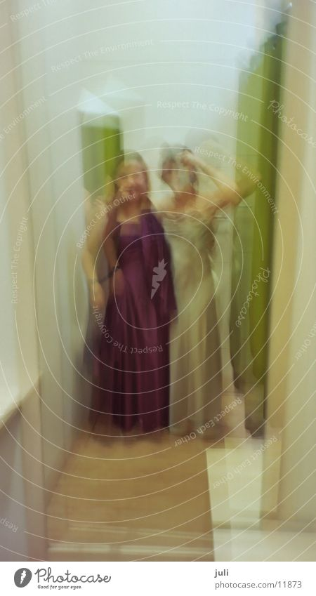 Ladies at C&A :-) Changing room Ball gown Lady Blur Woman Funny