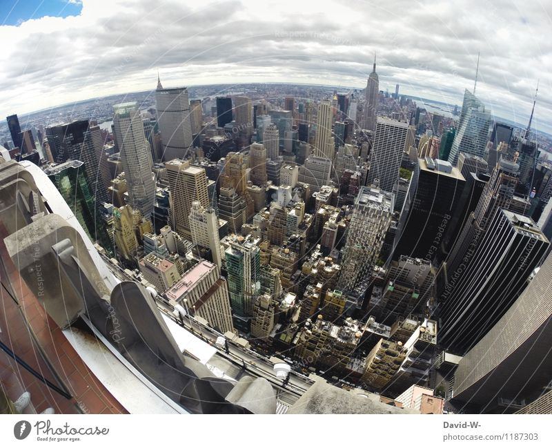 New York from above Luxury Tourism Adventure City trip Summer vacation Economy Business Career Town Capital city Downtown Skyline Overpopulated High-rise