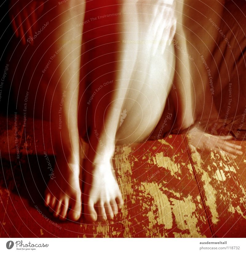 All hands full to do Feminine Hand Toes Black Long exposure Emotions Analog Human being self Legs Feet Floor covering . red Movement negative scan color Colour