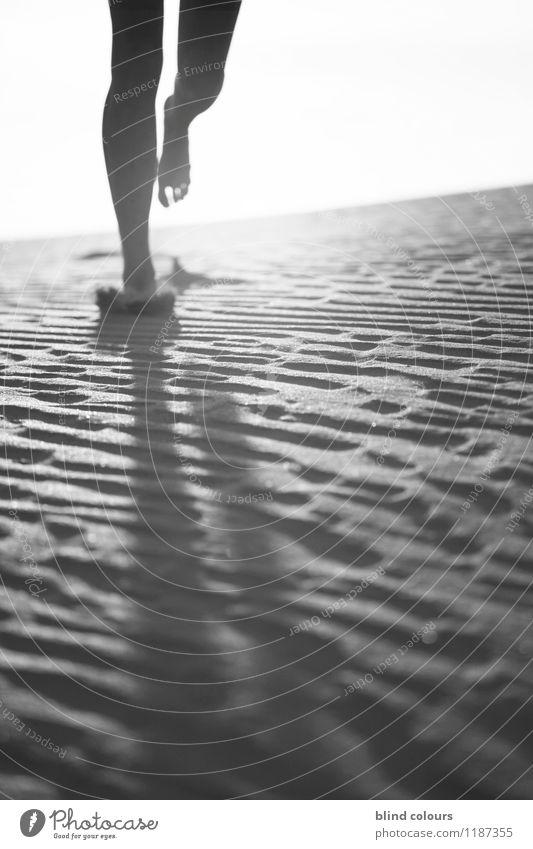 déchaux Art Esthetic Contentment Running sports Walking Jogging Legs Feet Barefoot Sand Emotions Touch Desert Movement Dynamics Woman's leg Decent