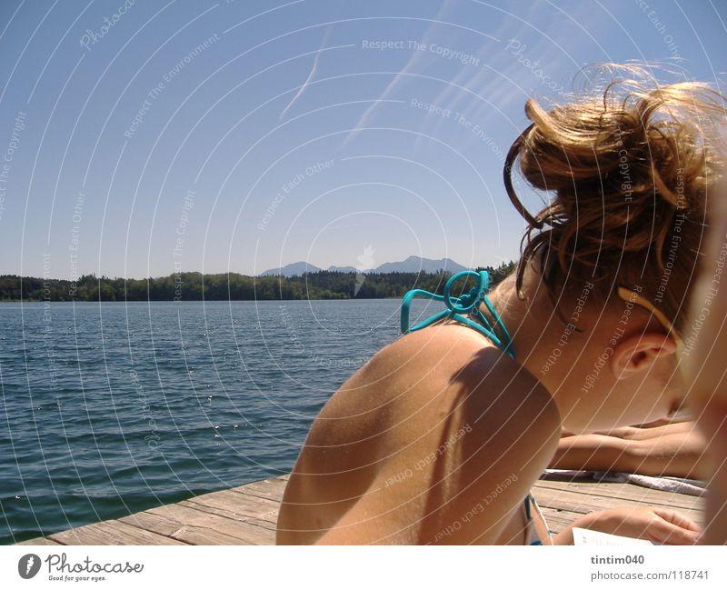 Water Sky Summer Hair and hairstyles Skin Perspective Cool (slang) Lady Bikini