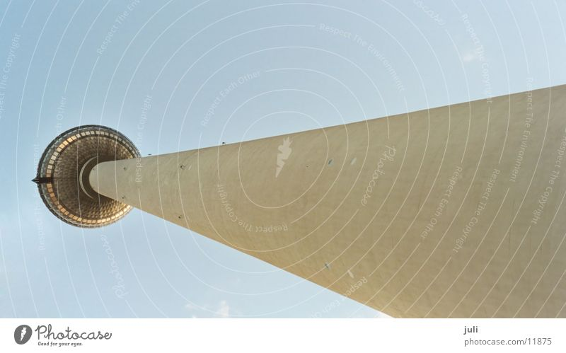 television tower Architecture Tower Tall Sky Perspective Berlin alex