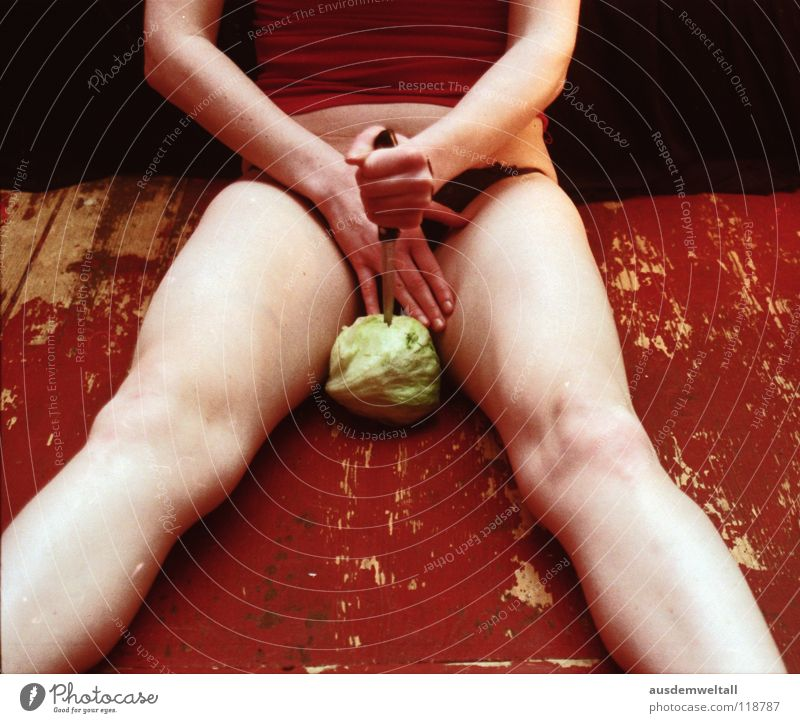 Now I have the salad flap the second Feminine Hand Toes Black Emotions Analog Nutrition Iceberg lettuce Cabbage Green Naked Kill Human being self Legs Feet