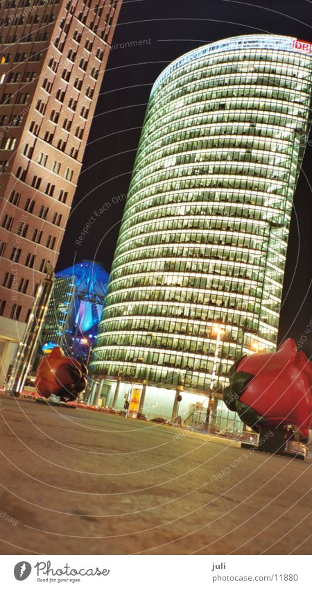 Potsdamer Square Night Long exposure Potsdamer Platz Rose Architecture Berlin Crazy