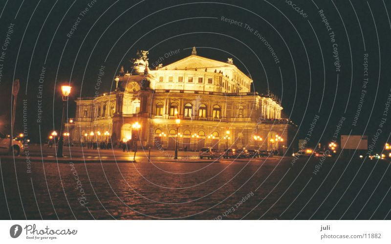 Semper Opera Dresden Night Long exposure Concert Music Architecture
