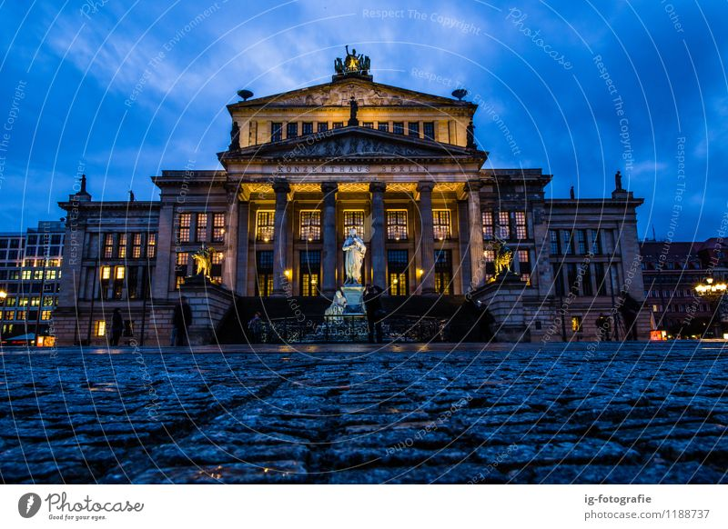 Night time at concert hall in Berlin Beautiful Esthetic Historic Capital city Landmark Sightseeing Concert Hall